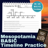 Ancient Mesopotamia Timeline Skill Practice for Beginners