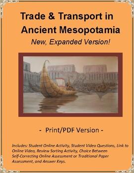 Ancient Mesopotamia Trade & Transportation Online Video & Student Questions