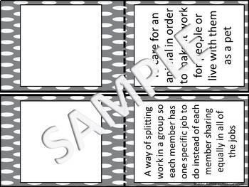 Ancient Mesopotamia Vocabulary Flashcards (Half-Page)
