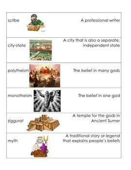 Ancient Mesopotamia Vocabulary Puzzle Pieces
