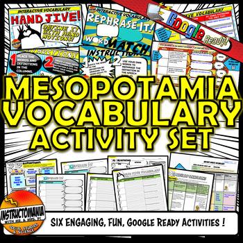 Ancient Mesopotamia Vocabulary Set Mini Bundle