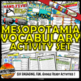 Ancient Mesopotamia Interactive Vocabulary Activity Set Go