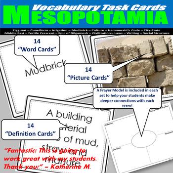 Ancient Mesopotamia Vocabulary Task Cards