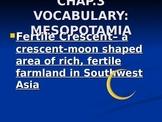 Ancient Mesopotamia Vocabulary Words PowerPoint