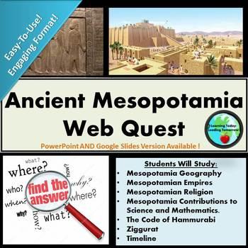 Ancient Mesopotamia WebQuest!