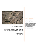 Ancient Sumer and Mesopotamia Unit Review
