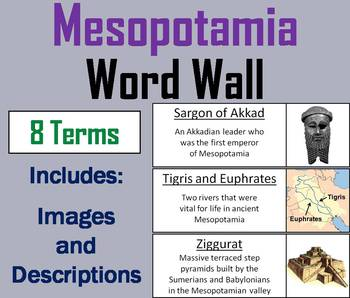 Ancient Mesopotamia and the Fertile Crescent Word Wall Cards