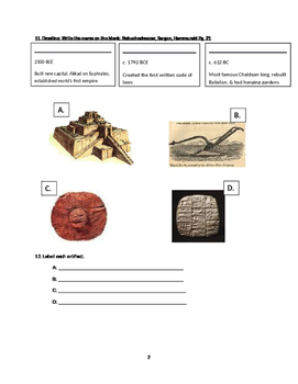 Ancient Mesopotamia study guide