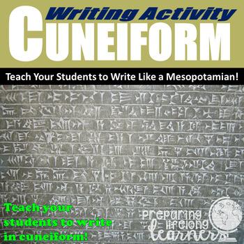 Ancient Mesopotamian Writing Activity (Cuneiform)