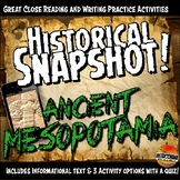 Ancient Mesopotamia Historical Snapshot Close Reading Investigation