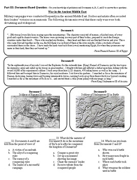 Ancient Middle East and Egypt Study Guide and Test