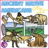 Ancient Native Americans clip art
