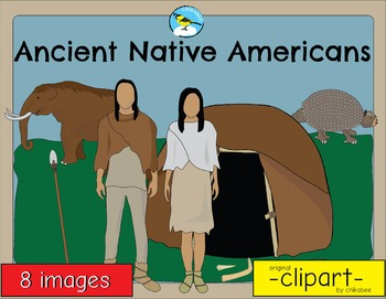 Ancient Native Americans of the Paleolithic Clip Art