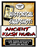 Ancient Nubia Kush Historical Snapshot Close Reading Inves