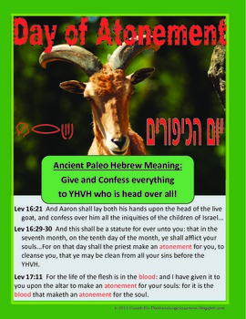 Ancient Paleo & Modern Hebrew Posters -Day of Atonement