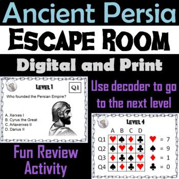 Ancient Persia/ Persian Empire: Escape Room - Social Studies
