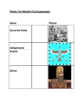 Ancient Persia (Reading & Activity)
