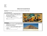 Ancient Pharaohs Walking Notes Activity