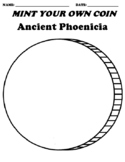 """Ancient Phoenicia """"Create your own Coin"""" Worksheet & Word Search"""