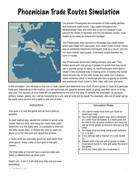 Ancient Phoenician Trade Routes Simulation