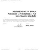 Ancient River Civilizations & Ancient American Civilizations