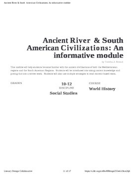 Ancient River Civilizations & Ancient American Civilizations