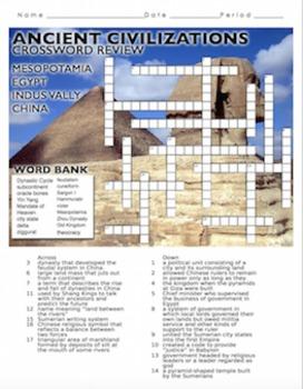 Ancient River Civilizations Crossword Puzzle Review