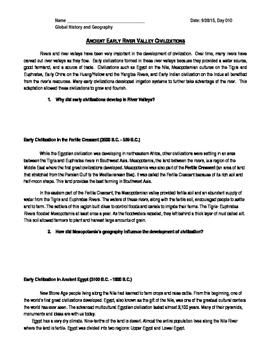 Ancient River Valley Civilization Test Review