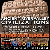Ancient River Valley Civilizations Unit - PPTs, Worksheets, Plans+Test