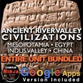 Ancient River Valley Civilizations Unit - PPTs, Worksheets, Plans+Test