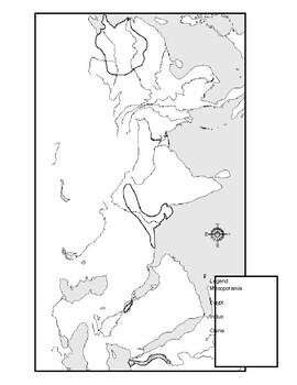 Ancient River Valley Civilizations Mapping Activity Worksheet