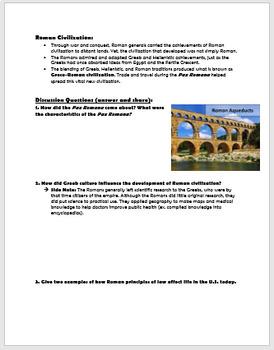 Ancient Roman Achievements - Golden Age of Rome/Pax Romana
