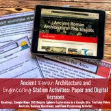 Ancient Roman Architecture &  Engineering Station Activities: Distance Learning