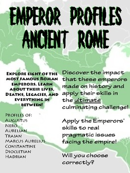 Ancient Roman Emperors Profile and Discussion Board Kit!