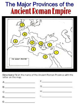 Ancient Roman Empire Map