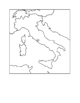 Ancient Roman Empire Map Assignment by Help R Us | TpT