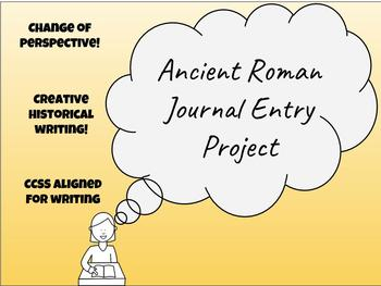 Ancient Roman Journal Entry Project