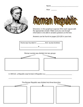 ancient roman republic graphic organizer by marc 39 s file cabinet tpt. Black Bedroom Furniture Sets. Home Design Ideas