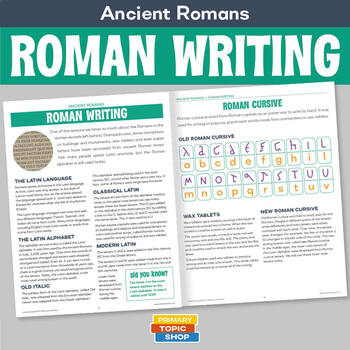 Ancient Romans - Roman Writing