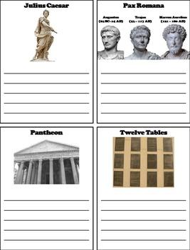 Ancient Rome/ Roman Empire Unit Activity (Julius Caesar, Consuls, Senate etc)