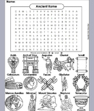 Ancient Rome/ Roman Empire Word Search/ Coloring Sheet