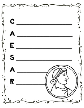 Ancient Rome Rome Writing Activity - Acrostic Poems