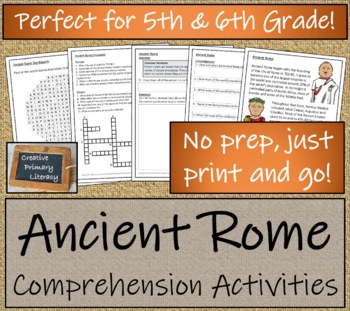 Ancient Rome - 5th & 6th Grade Close Reading Activity