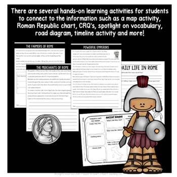 Explore Ancient Rome Activity Pack with Articles, Activities & More