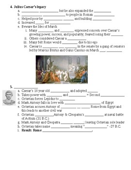 Ancient Rome A Republic Becomes an Empire Guided Lecture Notes
