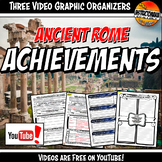 Ancient Rome Achievements YouTube Video Graphic Organizer