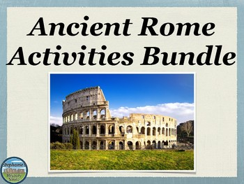 Ancient Rome Activities Bundle