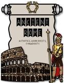 Ancient Rome {Activities, Worksheets, & Handouts}