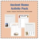 ANCIENT ROME Activity Pack Bundle