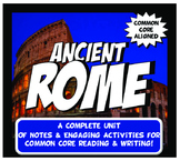 Ancient Rome Complete Unit Plan Lesson Activity Bundle Common Core Grades 5-8